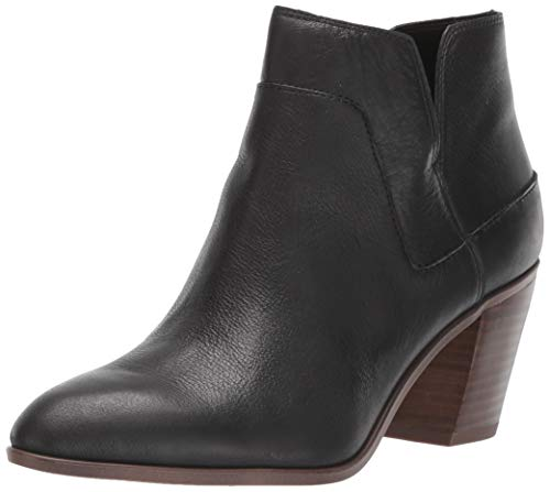 Franco Sarto Women's Odessa Ankle Boot, Black Leather, 8 M US