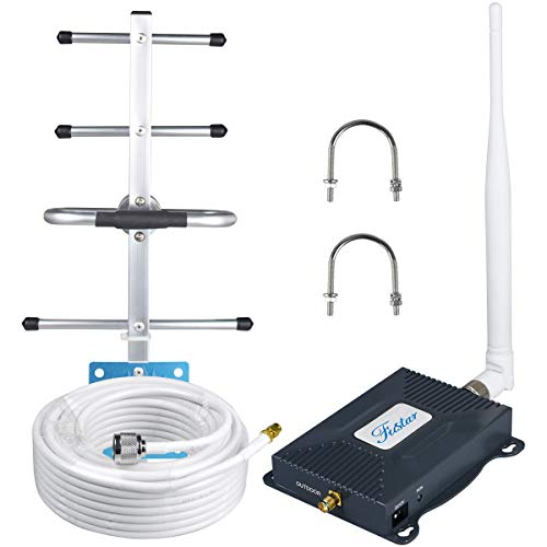 AT&T US Cellular Cell Phone Signal Booster Amplifier 4G LTE 700mhz Band 12/17 T-Mobile Cell Booster ATT Cricket Cell Signal Booster Repeater Home 4G Cell Phone Booster Boost Data/Call Yagi Antenna Kit