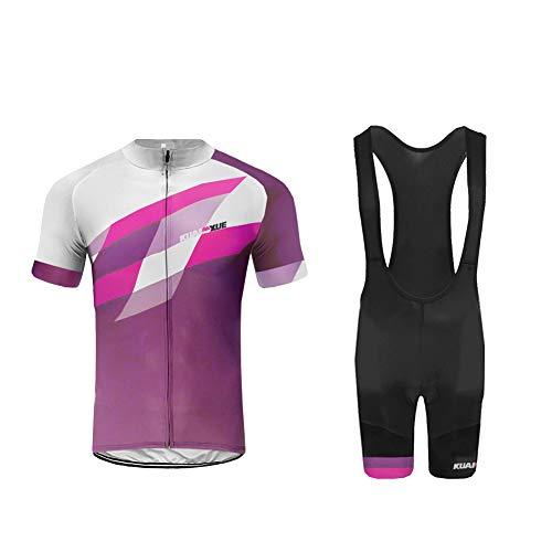 Uglyfrog Set Moda Maglia Ciclismo Jerseys per Uomo Corta Manica Tuta Estivo + Pantaloni Corti di Ciclismo Abbigliamento Ciclismo Sportivo Professionale Traspirazione Comodo SstBL02