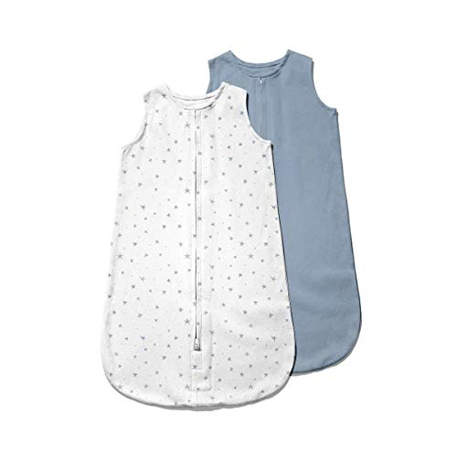 Ely's & Co. Baby Wearable Blanket│Sleep Bag 2-Pack Set - 100% Interlock Knit Cotton for Baby Boy...