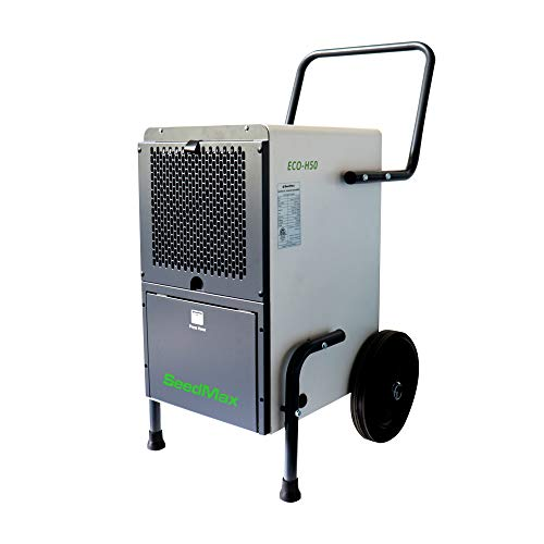 SeedMax 102 Pints (12.8 gal) Greenhouse Mobile Steel Commercial Dehumidifier