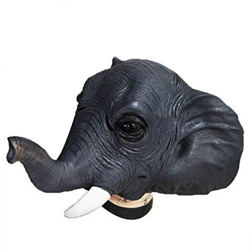 CLGTY Halloween Masker Bionische Olifant Grappige Halloween Cosplay Voor Volwassenen Party Decoratie Props Volledige Hoofd Masker, 50×30CM, Olifant