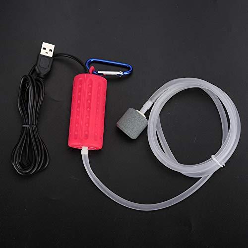SALUTUYA Bomba de oxígeno de Tanque de Peces de Piedra de Burbujas de plástico + Bomba de oxígeno de Acuario para Bomba de oxígeno silenciosa de Acuario(USB Air Pump)