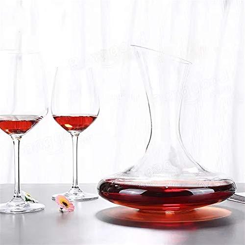 Decantador de vino de 1500 ml, elegante cristal de cristal, decantador, vertedor de vino tinto