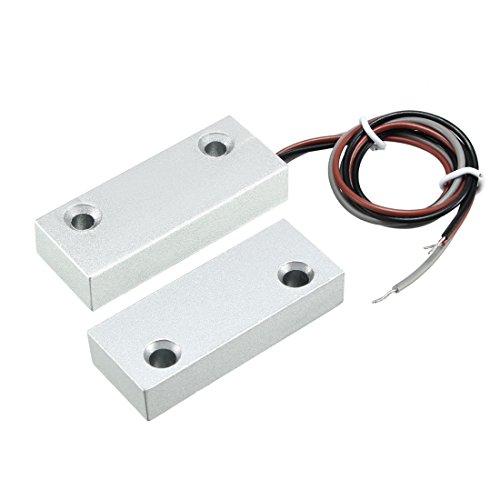 sourcing map Rolltor Kontakt Magnetischer Reedschalter Alarm mit 3 Drähten für N.O./N.C. Anwendungen MC-52