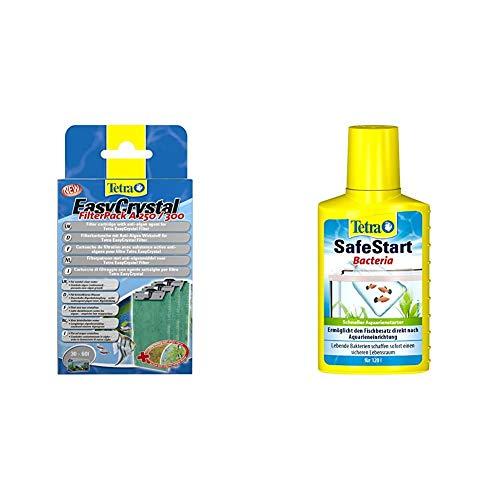 Tetra EasyCrystal Filter Pack A250/300 (Filtermaterial mit AlgoStop Depot 60 ml Anti-Algenwirkstoff, geeignet für Aquarien von 30 bis 60 Liter) & SafeStart Aquarienstarter, 100 ml Flasche