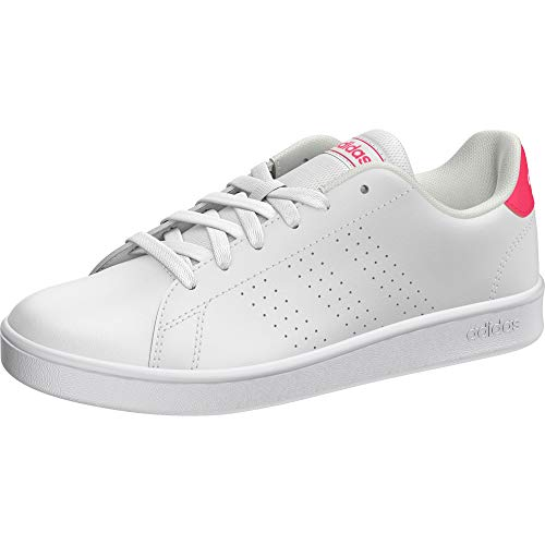 adidas Advantage K, Scarpe da Tennis, Ftwr White/Real Pink S18/Ftwr White, 36 2/3 EU