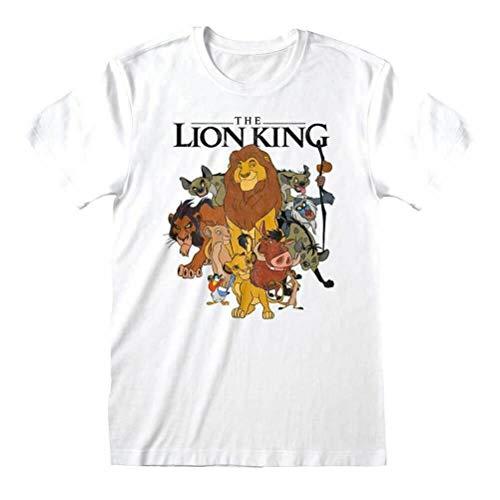 Disney T-Shirt à Manches Longues Homme du Roi Lion pour Personnages Blancs: Grand
