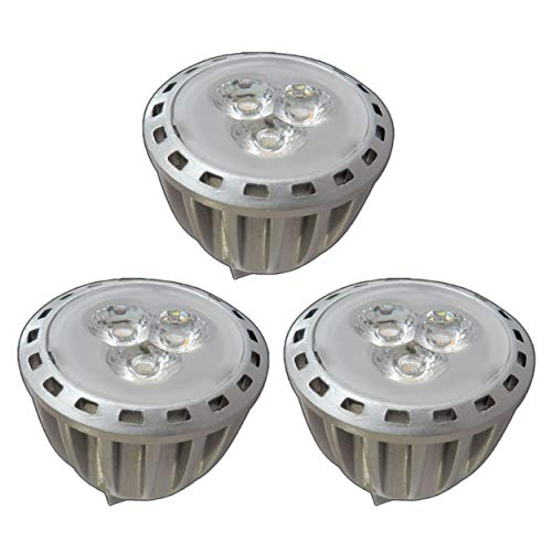 3x stuk - MR11 / GU4 LED 2,5/4,0 Watt 12V AC/DC warm wit spot 30° spaarlamp lamp spotlight 12V ~ wisselspanning