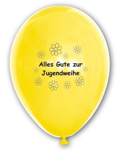 Unbekannt 10 Luftballons Alles Gute zur Jugendweihe, bunt gemischte Ballons mit Aufdruck, ca. 30 cm Durchmesser