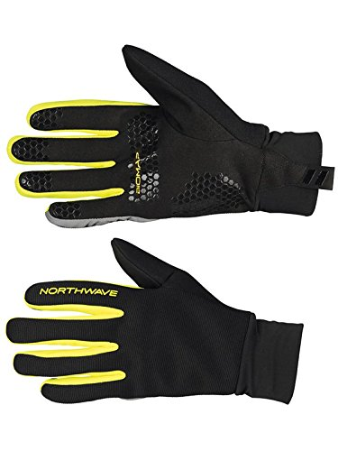 Guantes Btt Northwave Power 2 Grip Full Negro-Amarillo Fluo (S , Negro)