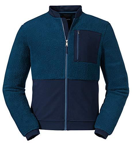 Schöffel Herren Fleece Jacket Stavanger M, stylishe Fleecejacke mit Sticklogos, atmungsaktive, schnell trocknende Outdoorjacke