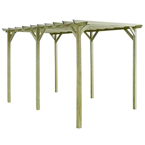 XINGLIEU pergola tettoia da giardino pergola impregnata Pinewood pergola Dimensioni: 4x 2x 2m (L x W x H)