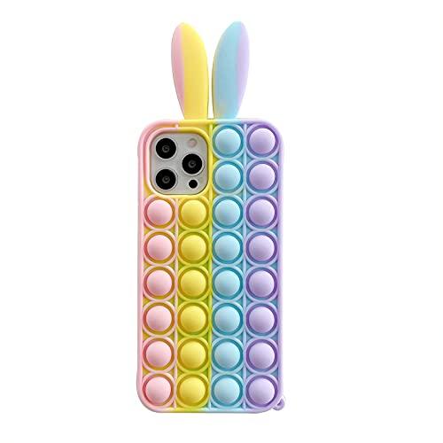 Fidgt - Funda de silicona para iPhone 11 Pro Max, diseño de burbujas de empuje y sensorial, funda de silicona suave para teléfono iPhone 11 Pro max-6.5 pulgadas