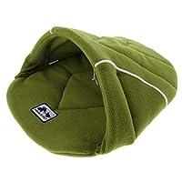 犬ベッド 暖かいベッド 柔らかいパッド 厚いパッド 快適 巣 ソフト 全3色 - 緑