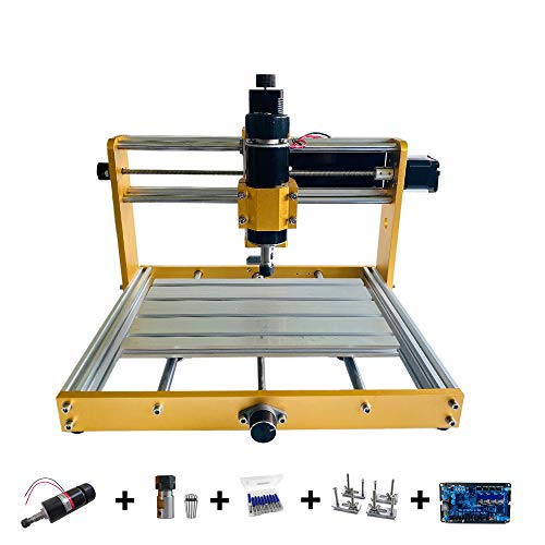 Purewords CNC 3018 Plus - Router DIY | 500 W Spindle Engraving Macine | All Metal Frame for tanto Non-Metal and Soft Metal Carving Engraving Cutting | Aluminum Copper Wood Pcb Carving