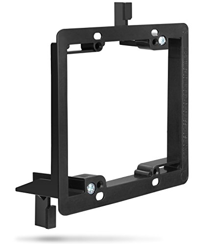 Low Voltage Mounting Bracket (2 Gang), Fosmon Low Voltage Mounting Bracket [Mounting Screws Included] for Telephone Wires, Network Cables, HDMI, Coaxial, Speaker Cables