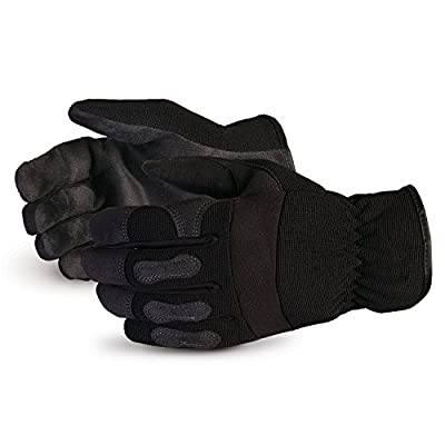 Crewmate Winter Pleather Drivers Glove, Synthetic Palm, Nylon Back, 2mm Laminated Foam Lined