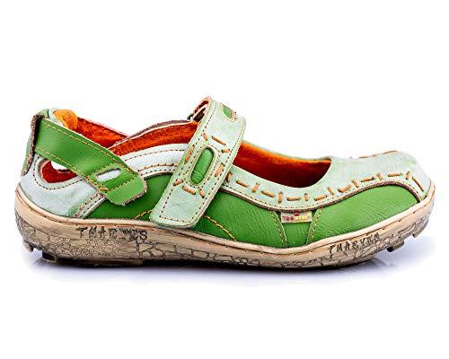 TMA 1601 Damen Halbschuh Leder grün - EUR 38