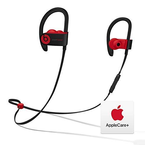 Powerbeats³ Wireless Headphones - Apple W1 Chip - Defiant Black-Red with AppleCare+ Bundle