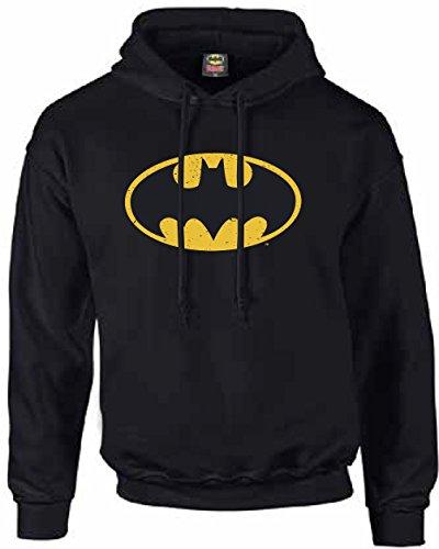 Batman-Sudadera con capucha, unisex, con logotipo de Batman negro XXXL