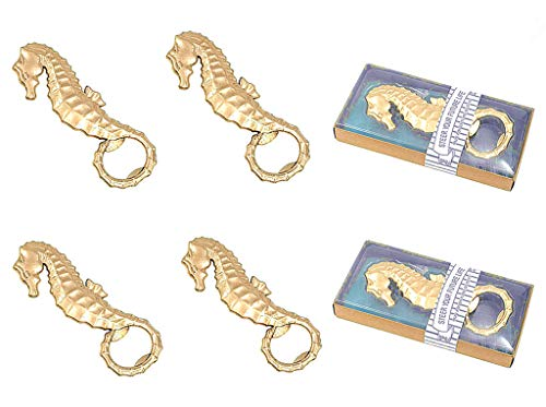 Kinteshun Seahorse Bottle Opener with Gift Box Packing for Wedding Party Favor(12pcs,Dark Golden Tone)