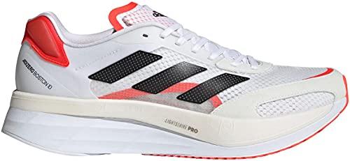 ADIDAS Boston Boost 10 Zapatillas de Carretera para Hombre Blanco Negro Rojo 44 2/3 EU