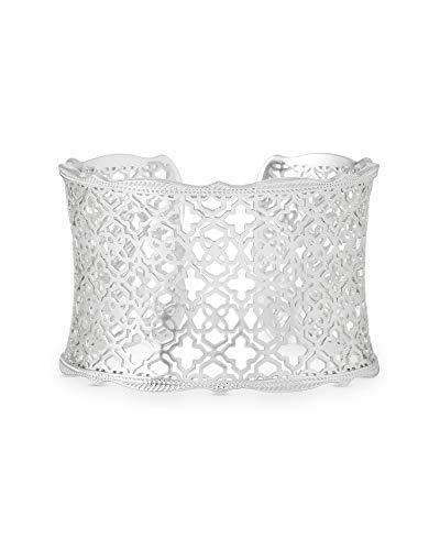 Kendra Scott Candice Cuff Bracelet for Women in Filigree, Fashion Jewelry, Rhodium-Plated