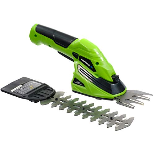 Earthwise Cordless Rechargeable 2-in-1 Shrub Shear and Hedge...