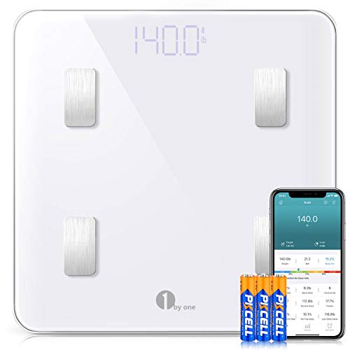 1 BY ONE Wireless Smart Scale, Báscula Corporal Digital inalámbrica con App...