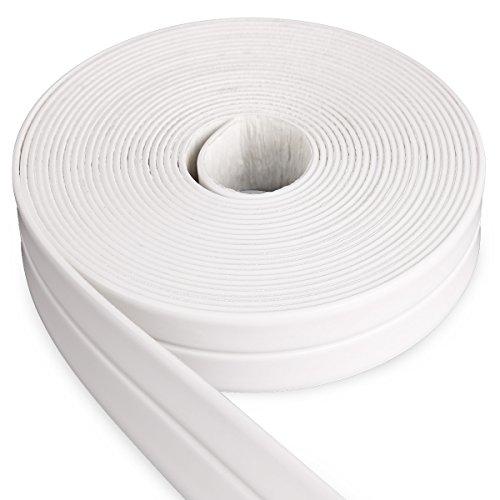 Surepromise 5M x 2,2cm Abdichtungsband Dichtband Selbstklebende Wasserdicht Wannendichtband Fugenband für Küche, Bad Dusche,Waschbecken, Fenstern, Türen (Weiß)
