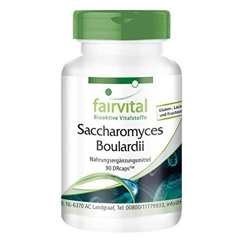 Saccharomyces Boulardii - HOCHDOSIERT mit 320mg pro Kapsel - VEGAN - 90 Kapseln - standardisierte wohlwollende Hefekultur