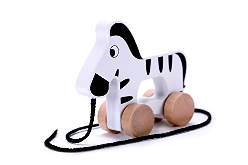 Wooden Zebra Push & Pull Along Toy