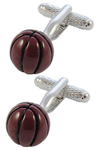 COLLAR AND CUFFS LONDON - HOCHWERTIGE Manschettenknöpfe mit Geschenk Box - Basketball Ball - Spieler Sport - Stilvolle Messing - Braun Farbe