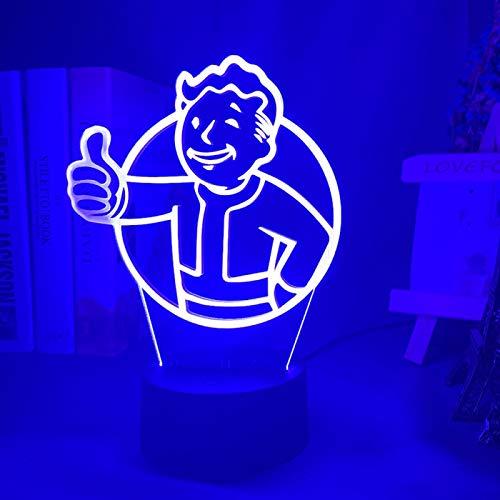 KangYD Juego Fallout Shelter LOGO LED Luz de noche, lámpara de ilusión...