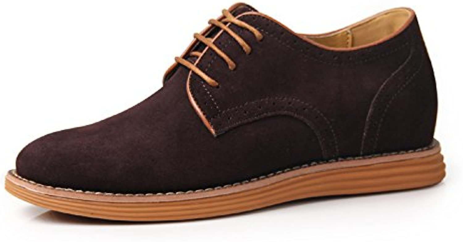 LOVDRAM Men'S Leather shoes Increased shoes Daily Casual Men'S shoes New Single shoes Leather Men'S Small Size Increased Men'S shoes