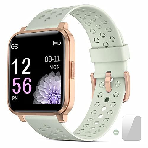 Smartwatch Donna, 1.3' Full Touch Orologio Fitness Impermeabile IP68 con Salute della Donna Cardiofrequenzimetri Monitoraggio del Sonno Orologio sportivo per Android IOS