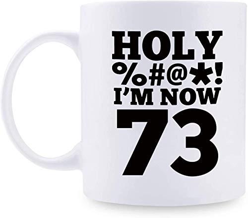 Taza de café personalizada MugFunny para mujer, regalo de cumpleaños 73, regalo de cumpleaños para mujeres, regalo de cumpleaños de 73 años para madre, esposa, amiga, hermana, colega, compañera de trabajo, taza de santo – 325 ml
