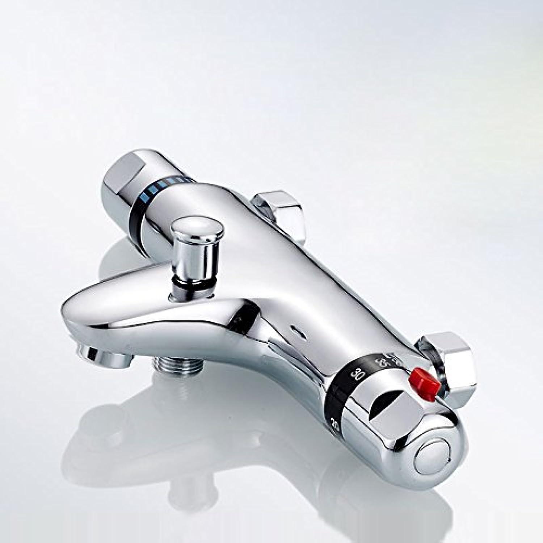 Luxurious shower BAKALA Dusche Wasserhahn Set Bad thermostatische Mischbatterie Chrom Mischbatterie W ABS-Handheld Dusche, Wasserhahn an der Wand montiert