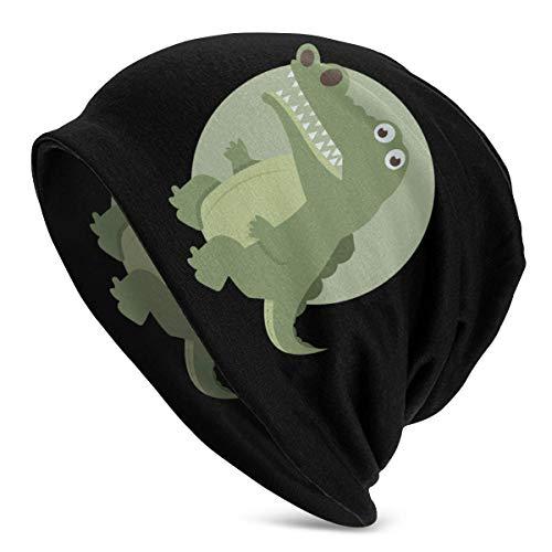 Yuanmeiju Slouch Skull Cap,Classics Basic Beanie,Slouch Beanie Hat,Cute Schnauzer Dog Cherry Blossom Knit Hat Universal for Sports Skull Beanie Hat