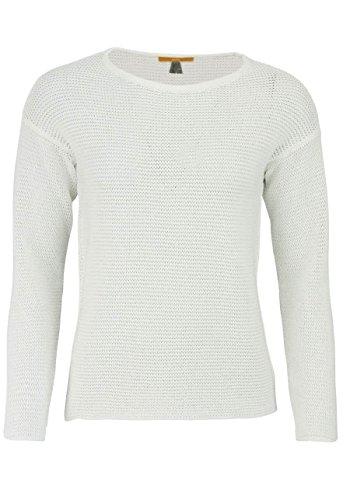BOSS Damen Idya Sweatshirt, Weiß (White 100), Medium