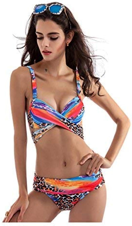ZHRUI The Steel und Large Yards Badeanzug Bikini Swimwear Badeanzug, Farbe Leopard, 3XL (Farbe   Wie Gezeigt, Größe   Einheitsgröße) B07MFD7ZWK  Charakteristisch