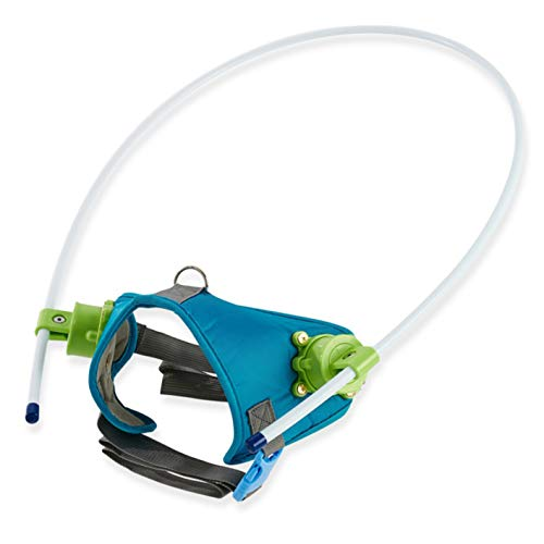 Blind Dog Harness, Dog Faint Collar, Blind Dog Face Protection, Activate The Confidence of Blind Pet Movement (L Blue)