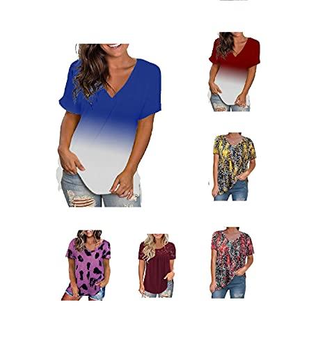 Tee Tshirt Damen Statement Tshirt Damen Bluse Mit Lochstierei Weiss S Blusentop Damen bluse lang weiß mit trompetenärmel (Blue 1,XL)