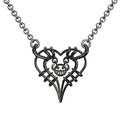 BIRDEU Trafalgar Law Halskette One Piece Halskette Heart of Pirate Cosplay Kostüm Zubehör Anhänger für Herren Damen Kollection Gifts