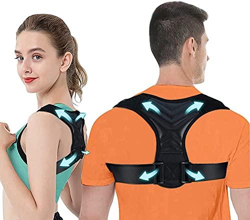 Correcteur De Posture, Dos Correcteur de posture hobbymoon pour femmes et hommes - Support dorsal ajustable correcteur de posture au cou, au dos, au haut du dos et aux épaules (ajustement 37-49'')