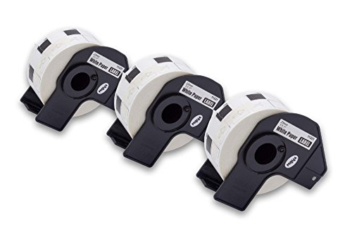 vhbw 3x Set Etiketten-Rolle 23mm x 23mm kompatibel mit Brother P-Touch QL-580, QL-580N, QL-650, QL-650TD, QL-700, QL-710 Etiketten-Drucker