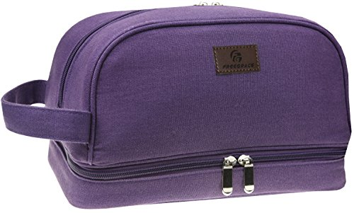 Canvas Toiletry Bag - Large Dopp Kit For Men & Women - The Perfect Travel Essentials Organizer – Ideal For Cosmetics, Shaving Sets