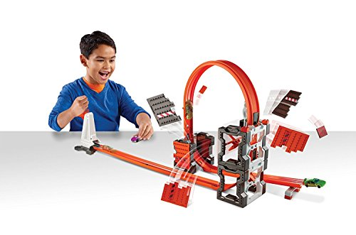 Hot Wheels DWW96 - Track Builder, kit para pista de demolición