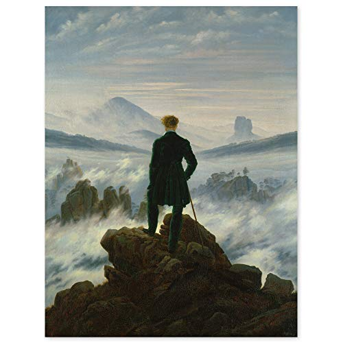JUNIWORDS Poster, Caspar David Friedrich, Der Wanderer über dem Nebelmeer, 60 x 78 cm